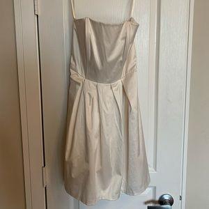 Merona White Strapless Satin Dress